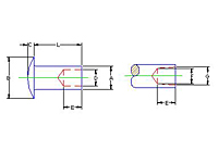 Semi tubular_Round Head_dim_DWG