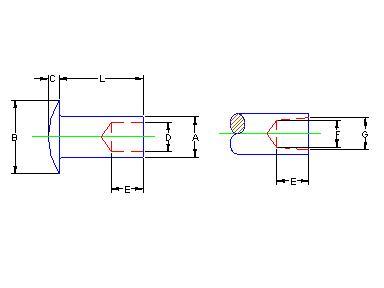 H4894 Columbus McKinnon Rivets Tubular Steel #R-3487 X